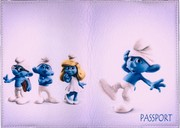 Обложка на паспорт MASCO (Маско) Смурфик