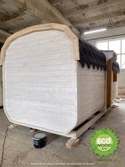 Мобильная баня квадро с душевой кабинкой под ключ 6х2, 3 м.